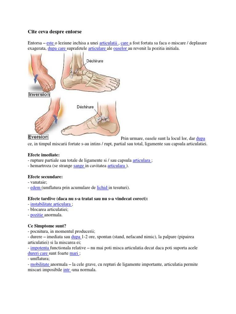 oasele și articulațiile extremităților inferioare doare